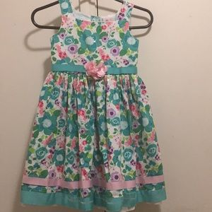 Spring floral young girl dress